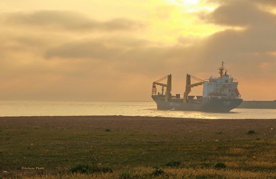 navire sortie adour fin de journée 2205